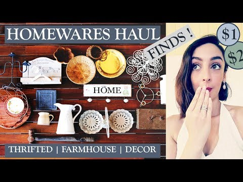 Huge Thrifted Farmhouse Haul | Homewares & Decor | The Restylers