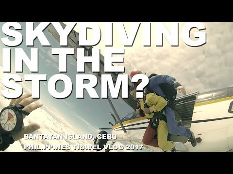 Skydiving In The STORM? (Bantayan Island, Cebu, Philippines Travel Vlog 2017)
