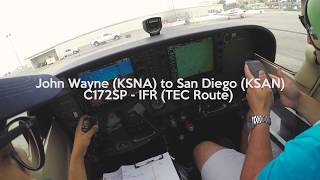 C172 IFR 4K - John Wayne (KSNA) to San Diego (KSAN) with comms