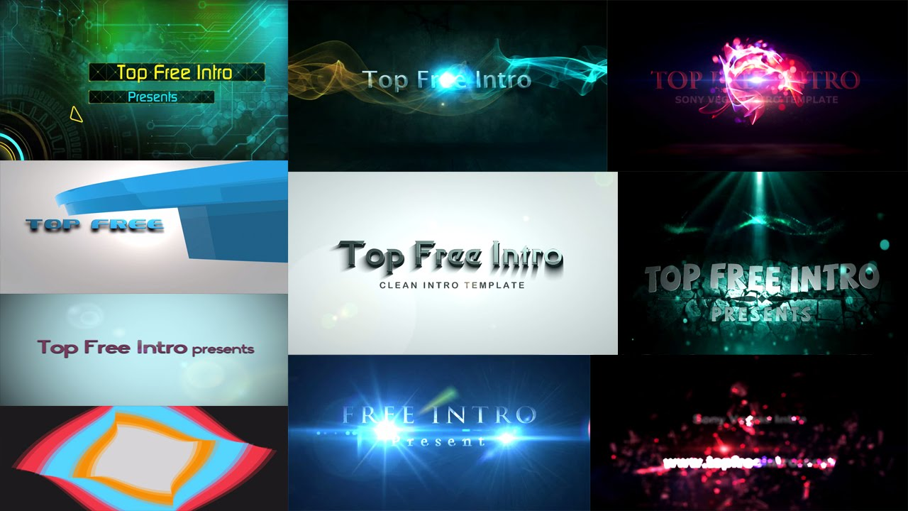 Top  Free Intro Templates  Sony Vegas Intro Template