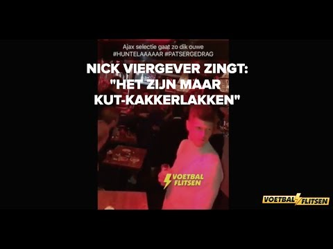 """Nick Viergever viert zege op Feyenoord met Ajax-selectie en zingt: """"Het zijn maar KUT KAKKERLAKKEN"""""""
