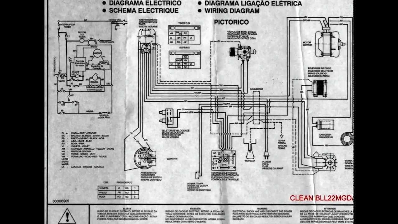 Diagrama Esquema El 233 Trico Lavadoras E Geladeiras Youtube