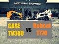 Bobcat versus Case Compact Track Loaders - Skid Steer Drag Race & Comparision