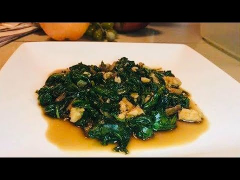 Quick & Easy: STIR FRY SPINACH WITH SALMON FLAKES Recipe
