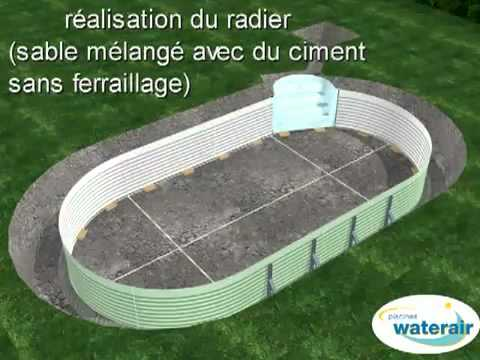 Montage 3d d 39 une piscine waterair youtube for Tarif piscine waterair