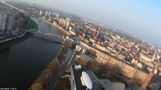 Opole z lotu ptaka 2 Amfiteatr Odra panorama - Bixler 2 Mobius ActionCam