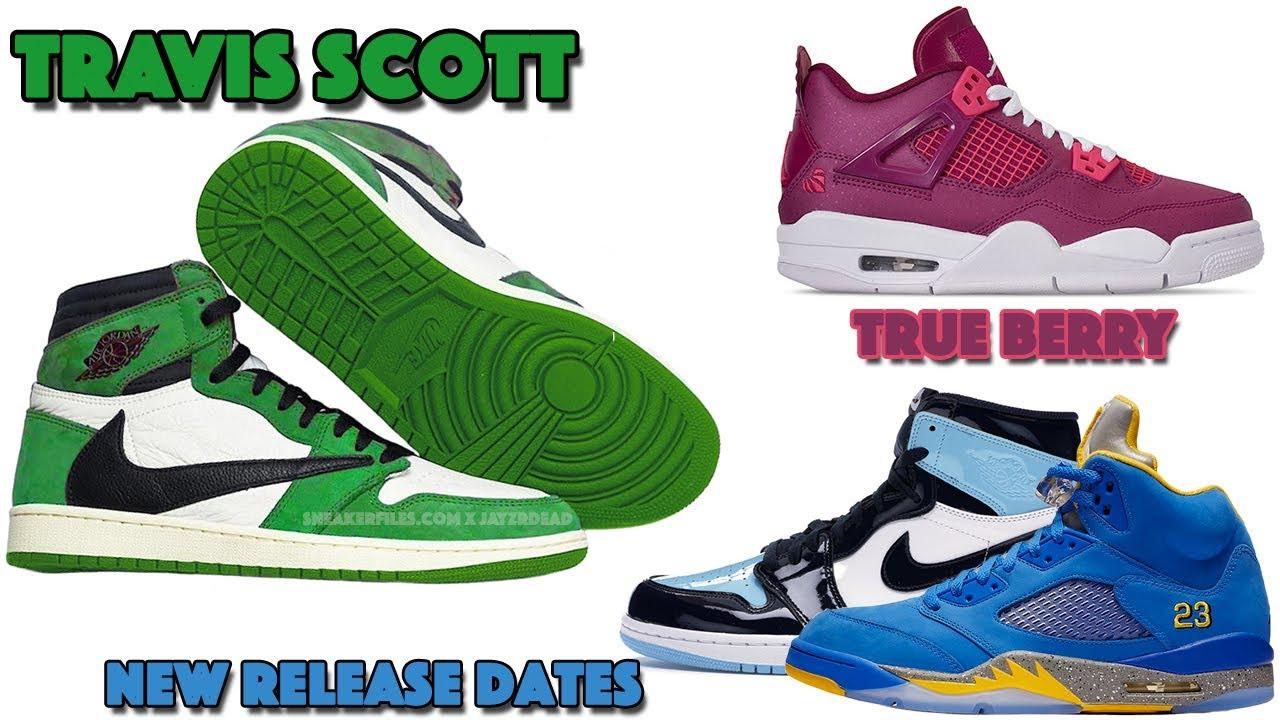 920810ae7d2 TRAVIS SCOTT AIR JORDAN 1 GREEN, JORDAN 4 TRUE BERRY, NEW RELEASE DATES AND  MORE
