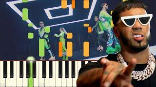 China - Anuel AA, Daddy Yankee, Karol G, Ozuna & J Balvin - Piano - Synthesia
