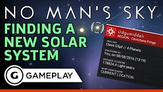 No Man's Sky - Travelling to a New Solar System Gameplay