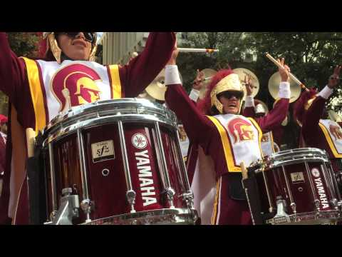 USC Marching Band Heritage Hall 9/12/15 Tusk Fight Song FRONT ROW