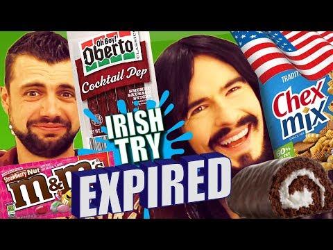 Irish People Taste Test 'EXPIRED' American Snacks!!