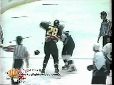 Apr 21, 1998 Craig Johnson vs Curtis Voth Oklahoma City Blazers vs Wichita Thunder CHL