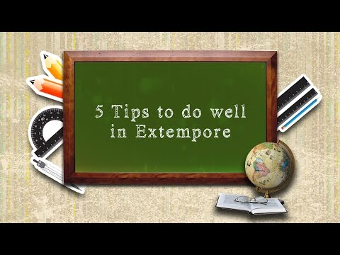 5 Tips To Do Well In Extempore