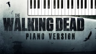 the walking dead theme piano version extended version tv series