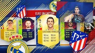 EL DERBI FUT DRAFT CHALLENGE!!! | ATLETICO DE MADRID - REAL MADRID FUT DRAFT | FIFA 18