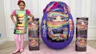 Sofia play with Giant Surprise eggs