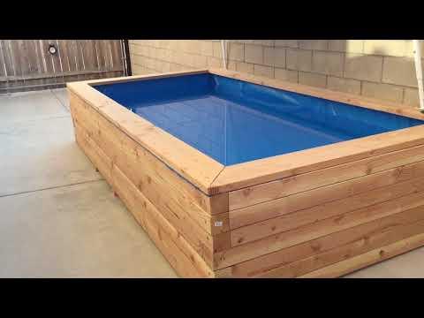 My raised wooden koi pond construction part 4