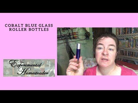 Cobalt Blue Glass Roller Bottles