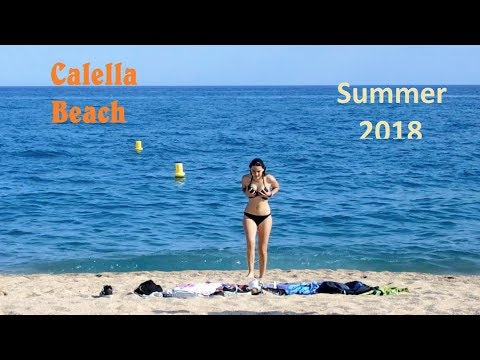 Calella Beach Catalonia Spain Full Version Summer 2018