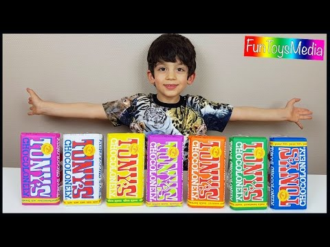 Learn Colors with Colored Chocolate and Learn Numbers with Surprise Eggs for Children and Toddlers
