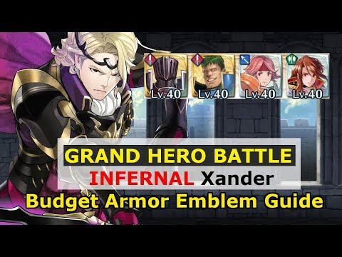 [FEH] Xander Grand Hero Battle Elite Quest - Budget Armor Guide - Fire Emblem Heroes