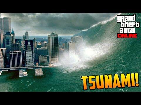 ... TSUNAMI EN LOS SANTOS GTA V Online Misterio Tsunami GTA 5 Easter Egg
