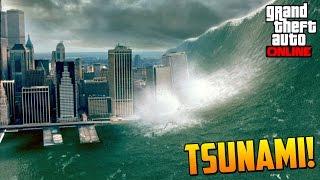INCREIBLE!! NUEVO MISTERIO TSUNAMI EN LOS SANTOS! - GTA V Online - Misterio Tsunami GTA 5 Easter Egg