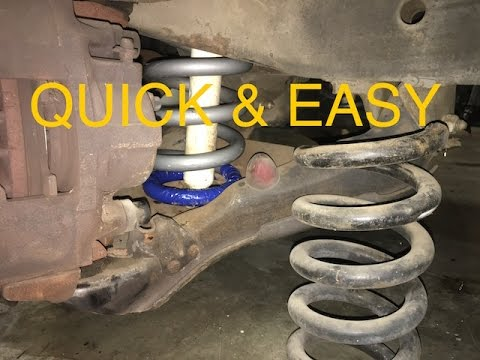 How To Remove Coil Springs On A Truck/SUV - YouTube