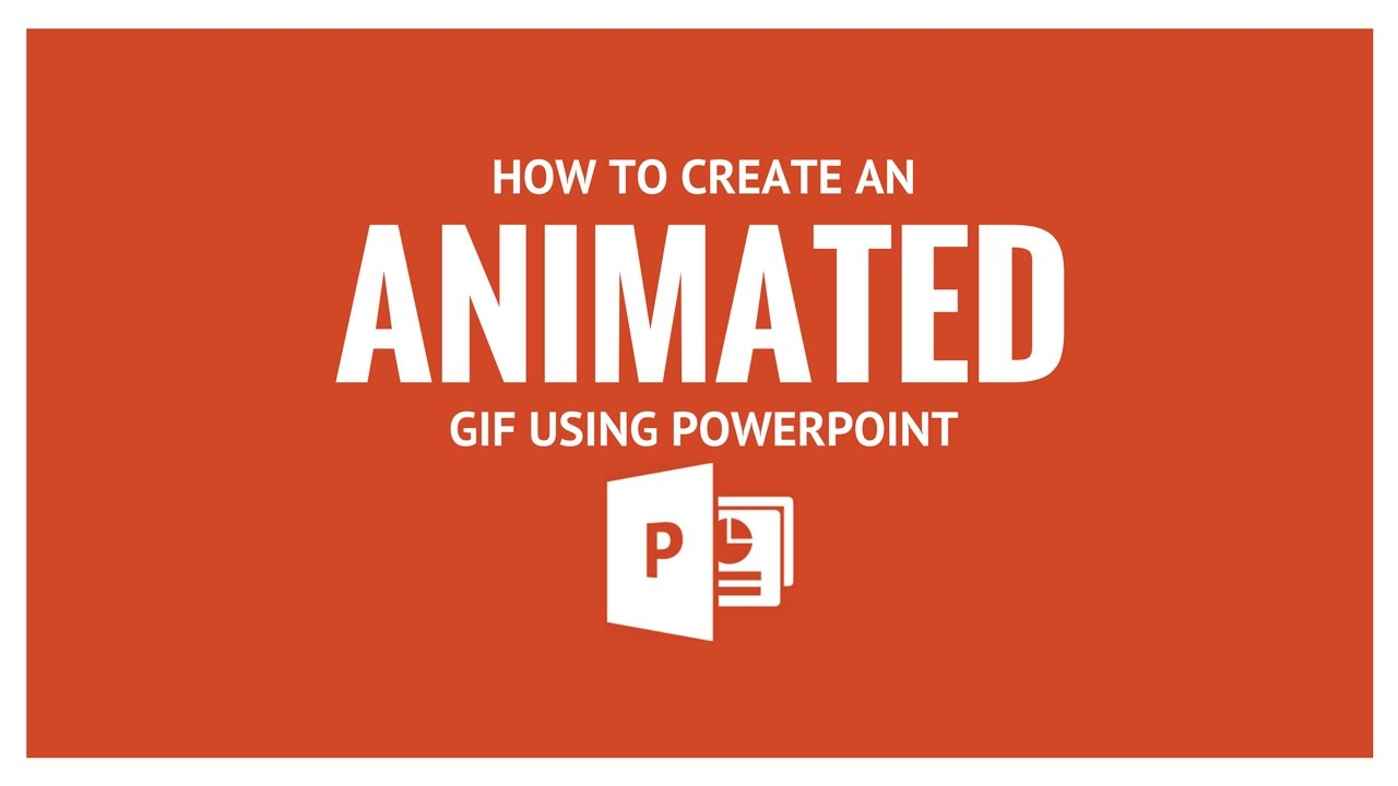 How to create an animated gif using powerpoint