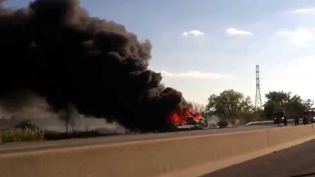 One Dead on Fatal Accident - Truck on fire I95 NJ Turnpike 10/07/2015