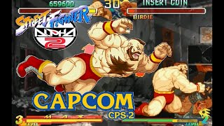 street Fighter Alpha 2 Expert difficulty Zangief Victor  no Lose playthrough