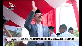 Keseruan saat Presiden Jokowi Temui Warga di Monas