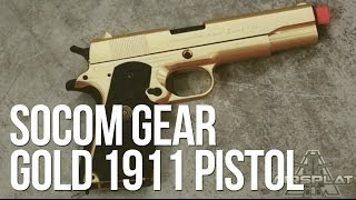 Socom Gear Limited 24k Gold 1911 Gas Airsoft Pistol - AirSplat On Demand