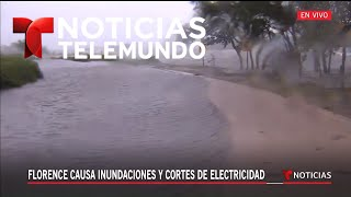 El mar se sale de su cauce en Carolina del Norte | Noticiero | Telemundo