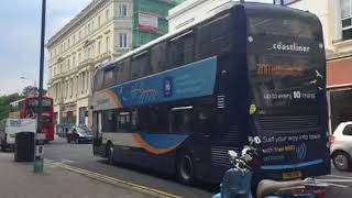 Brand New Coastliner First Day In Service Stagecoach Bus Route 700 Passing Through Western Road Hove