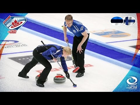 Estonia v Finland - Round-robin - World Mixed Doubles Curling Championship 2017