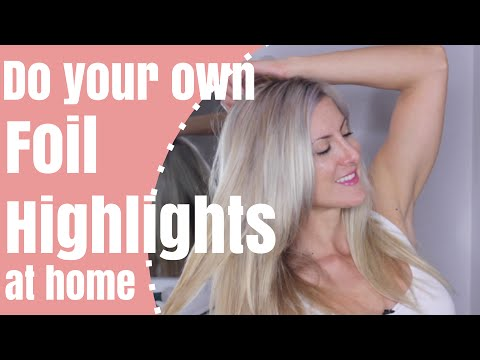 How to highlight your hair at home with foils youtube pmusecretfo Images