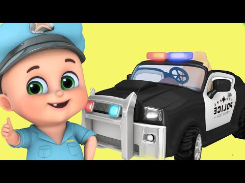 Police Car Cartoon video for kids | police car chase, helicopter | Kids truck videos -police vehicle