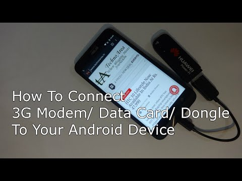 How To Use/Connect 3G Modem/ Data Card Or Dongle With Your Android Smartphone