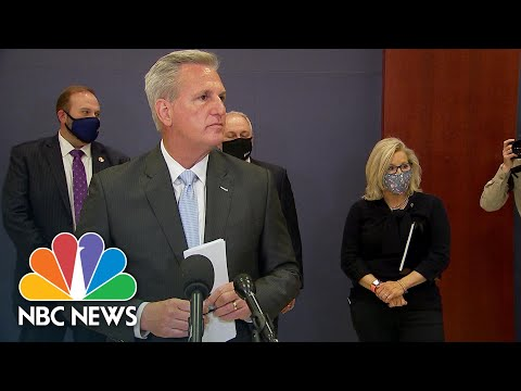 Watch: GOP's McCarthy And Cheney Disagree At Press Conference Over Trump At CPAC | NBC News NOW