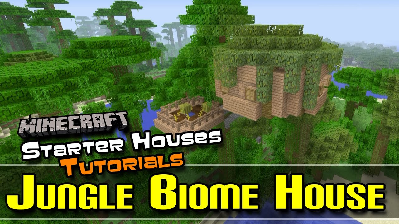 Starter houses tutorials jungle biome house for Jungle house music