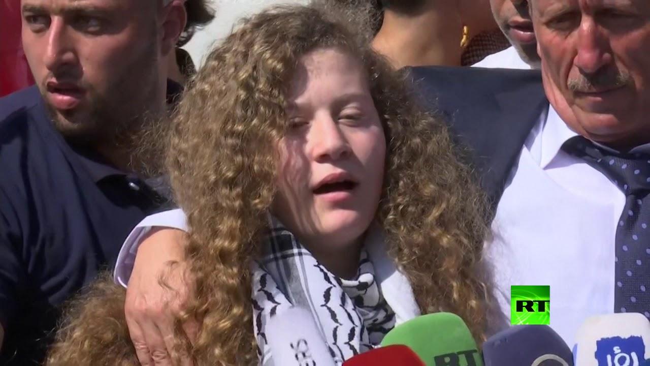 أول تصريح لعهد التميمي بعد إطلاق سراحها