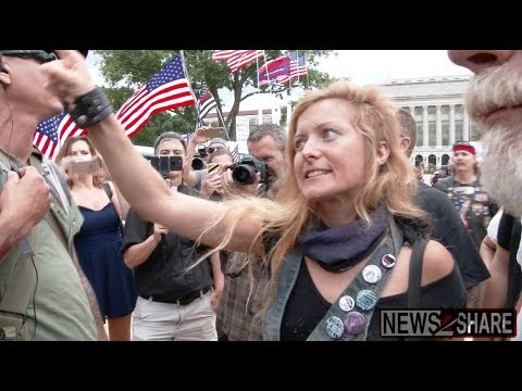 """Antifa activist removed from MOAR after shouting at """"pro-Trump anarchist"""""""