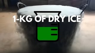 1kg Of Dry Ice In Boiling Water