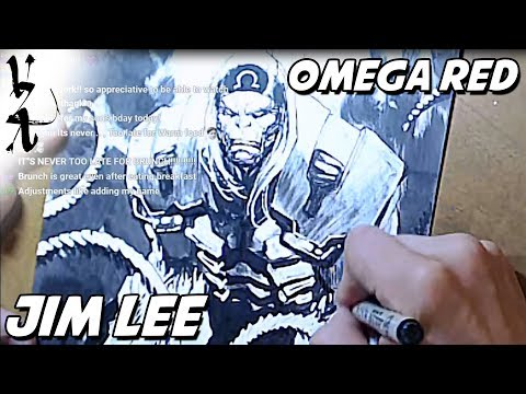 Jim Lee drawing Omega Red
