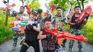 LTT Nerf War : SEAL X Warriors Nerf Guns Fight Criminal Group Mercenary  Bandits Time