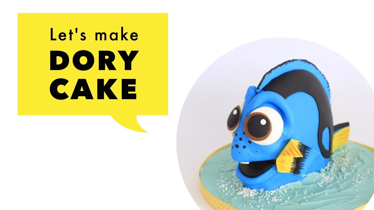 The Making of Dory 3D Cake YouTube