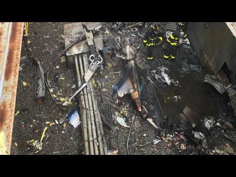 При крушении вертолёта в Нью-Йорке погиб пилот