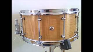 14 x 6.5 Hickory custom Solid wood snare drum test - low tuning