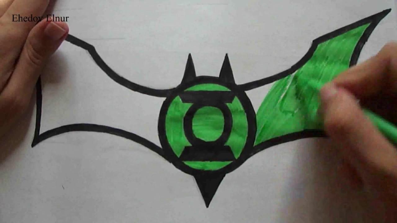 How To Draw Green Lantern And Batman Logo Ehedov Elnur